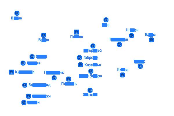 Нет ис Сат предлага комуникационни услуги в София, Варна, Пловдив, Плевен, Велико Търново и други градове на територията на страната.
